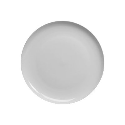 """Homer Laughlin 20076800 9"""" Round Alexa Luncheon Plate - China, Ameriwhite"""