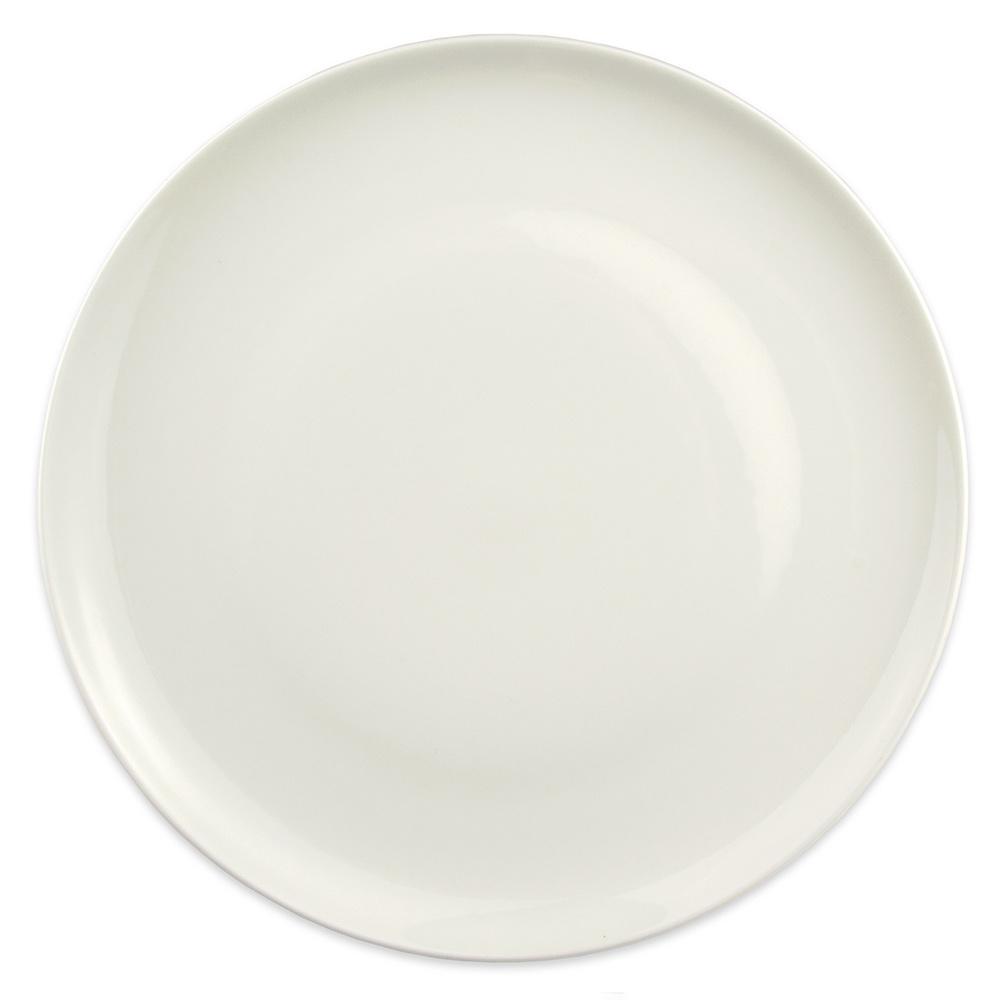 "Homer Laughlin 20126800 12.25"" Round Alexa Service Plate - China, Ameriwhite"