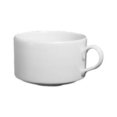 Homer Laughlin 20146800 13-oz Alexa Stackable Cup - China, Ameriwhite