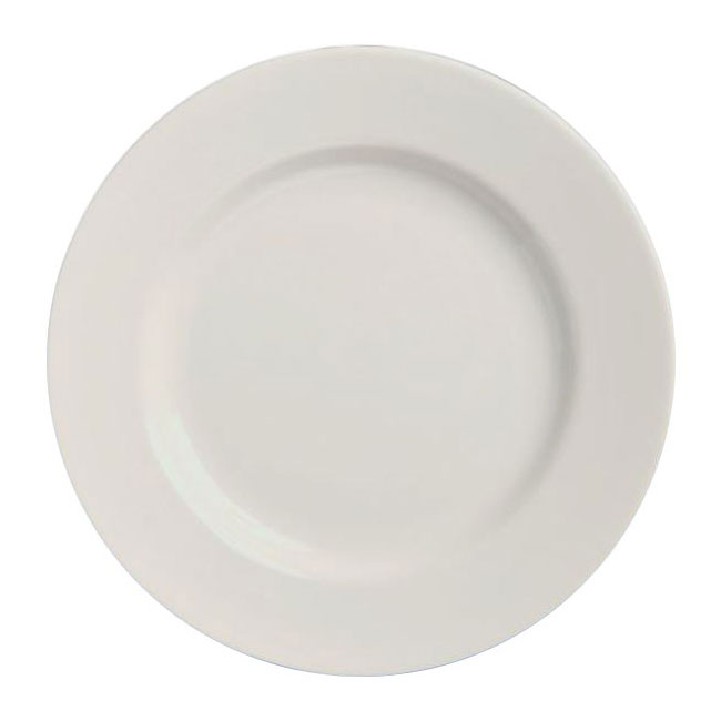 "Homer Laughlin 20210000 6.63"" Round Plate - China, Arctic White"