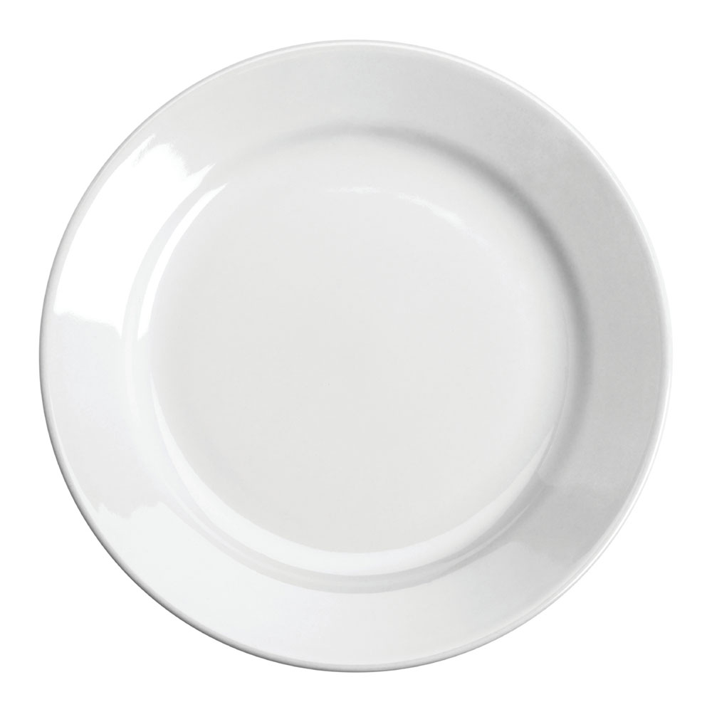 "Homer Laughlin 20310000 7.13"" Round Plate - China, Arctic White"
