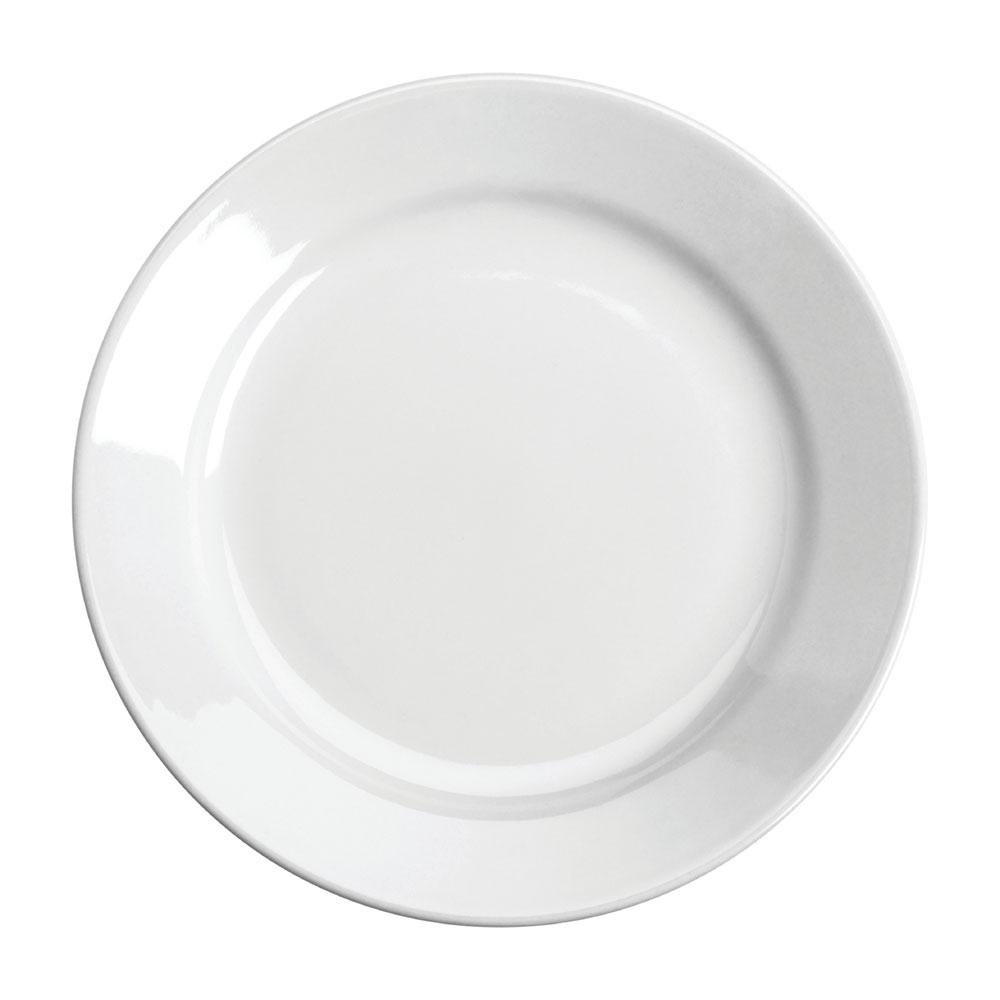 "Homer Laughlin 20610000 9.63"" Round Plate - China, Arctic White"