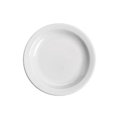 "Homer Laughlin 21110000 5.5"" Round Plate - China, Arctic White"