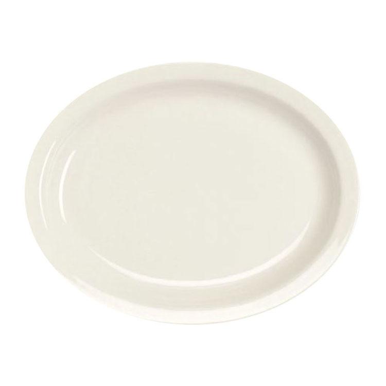 "Homer Laughlin 25910000 9.75"" Oval Platter - China, Arctic White"