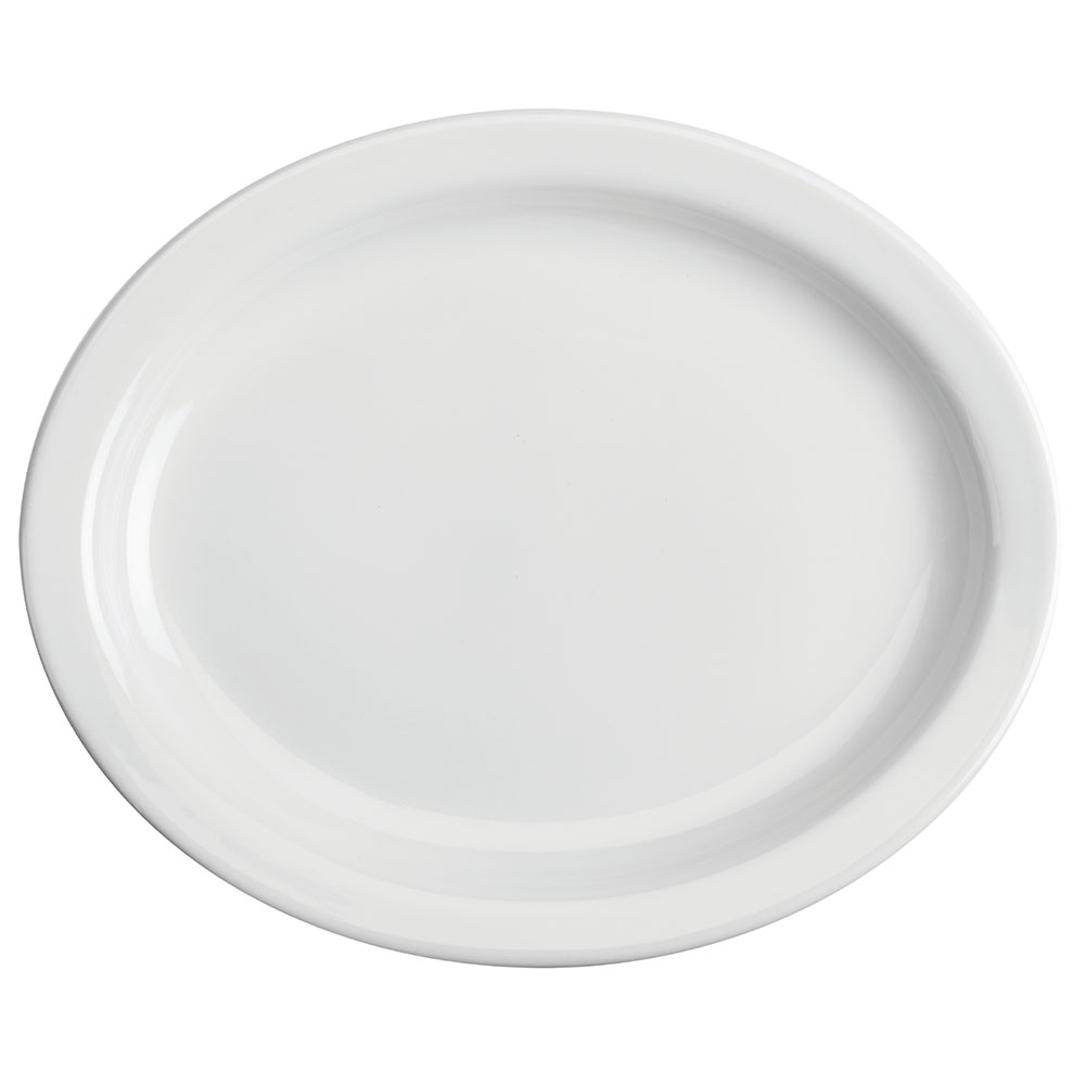 "Homer Laughlin 26010000 11.38"" Oval Platter - China, Arctic White"