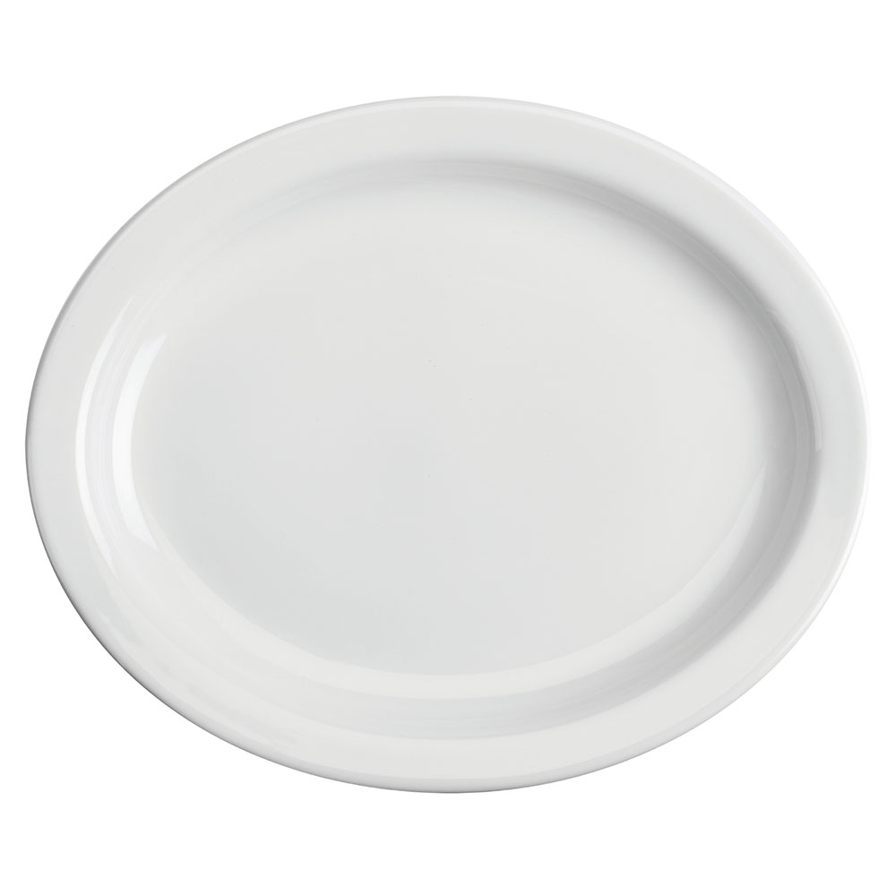 "Homer Laughlin 26110000 13.75"" Oval Platter - China, Arctic White"