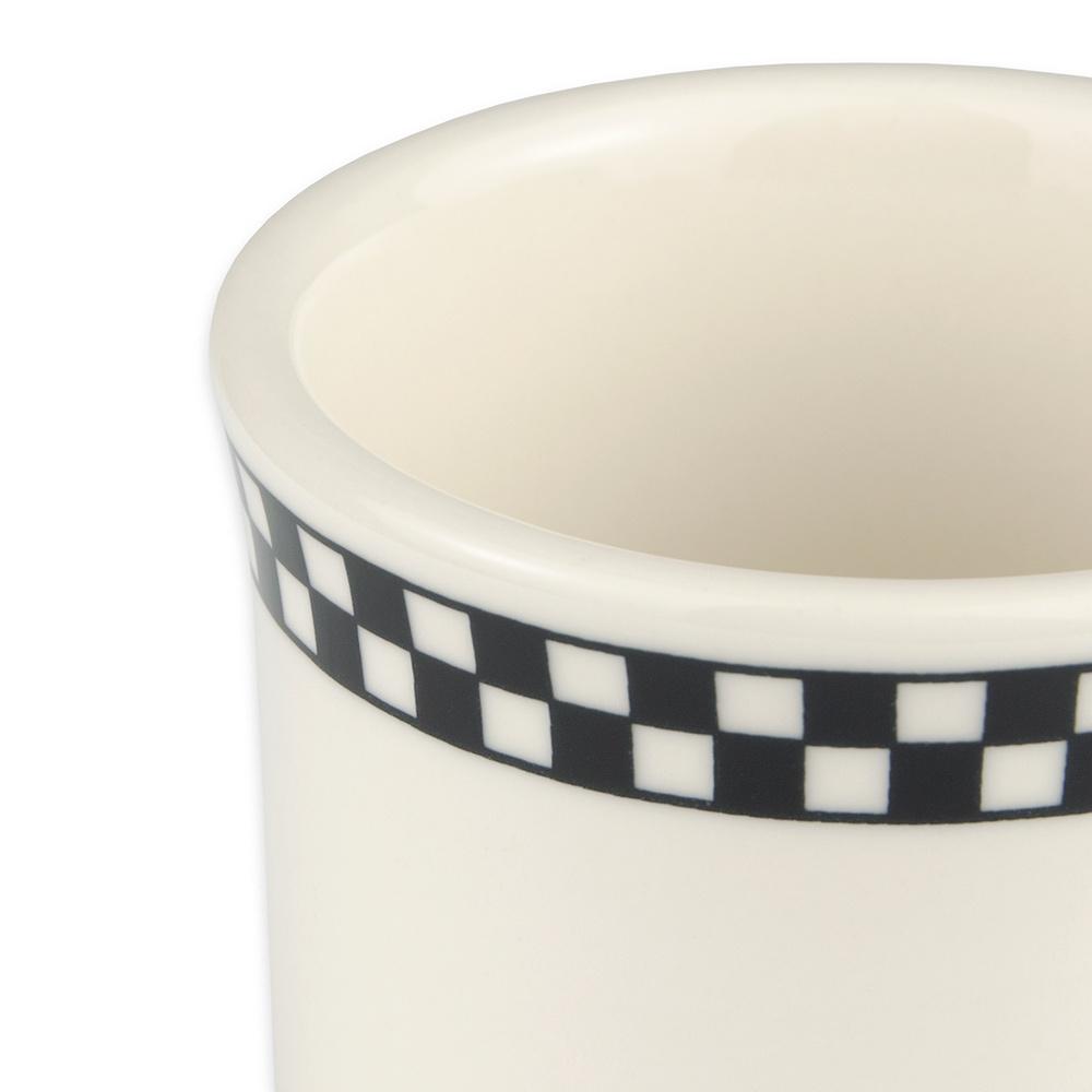 Homer Laughlin 3001636 8.75-oz Mug - China, Ivory w/ Black Checkers