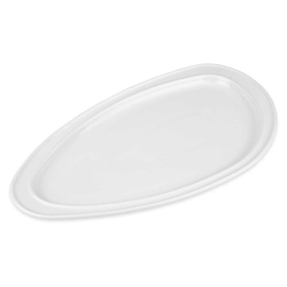 "Homer Laughlin 3104710000 Oval Platter - 12"" x 6.87"", China, Arctic White"