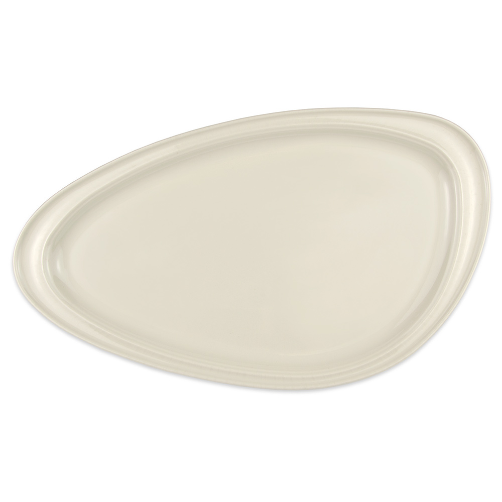 "Homer Laughlin 3104900 Oval Platter - 16.13"" x 9.25"", China, Ivory"