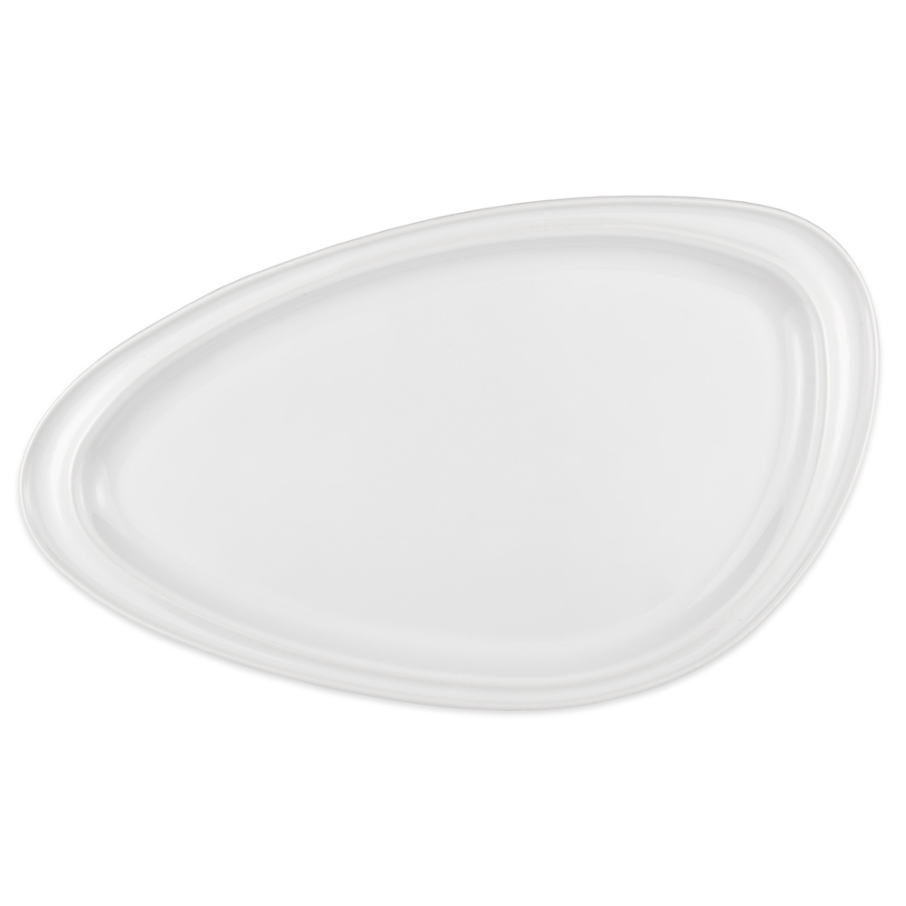 "Homer Laughlin 3104910000 Oval Platter - 16.13"" x 9.25"", China, Arctic White"