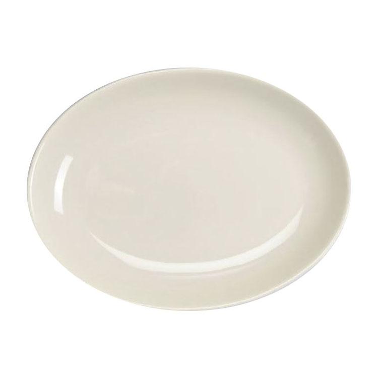 "Homer Laughlin 31110000 8.38"" Oval Empire Platter - China, Arctic White"