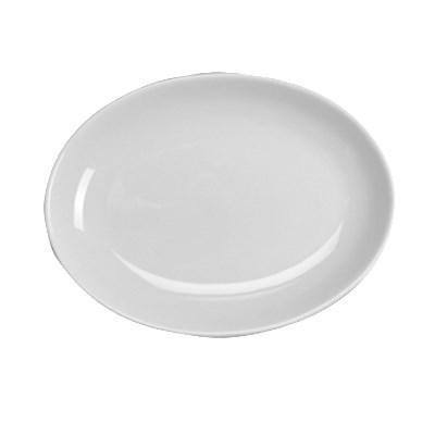"Homer Laughlin 31210000 10.63"" Oval Empire Platter - China, Arctic White"