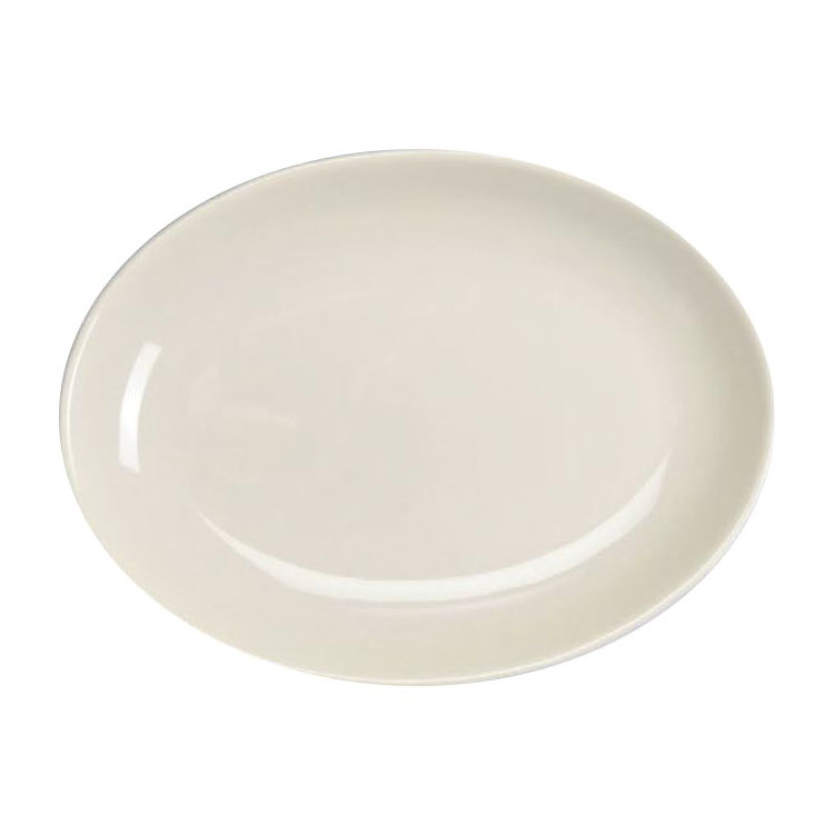 "Homer Laughlin 31510000 13.13"" Oval Empire Platter - China, Arctic White"