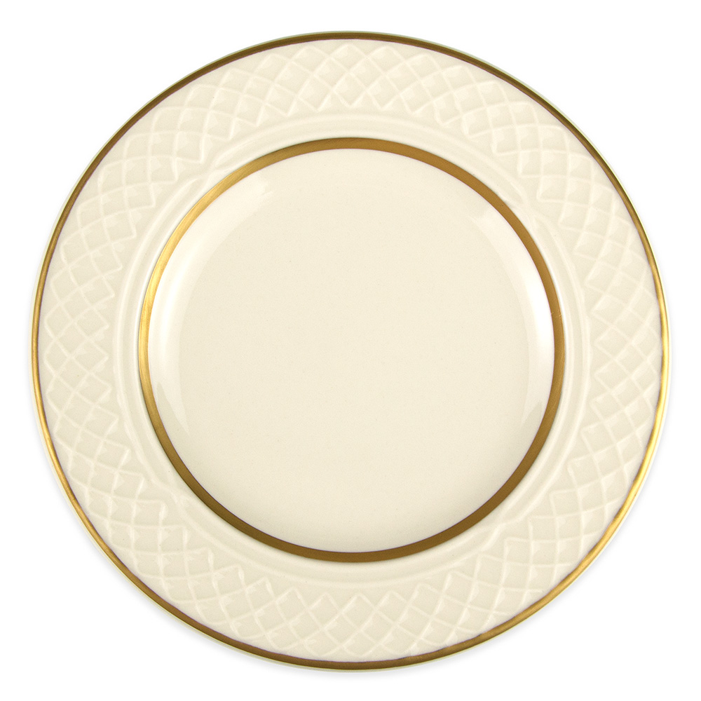 """Homer Laughlin 3341420 6.25"""" Round Gothic Westminster Plate - China, Ivory"""