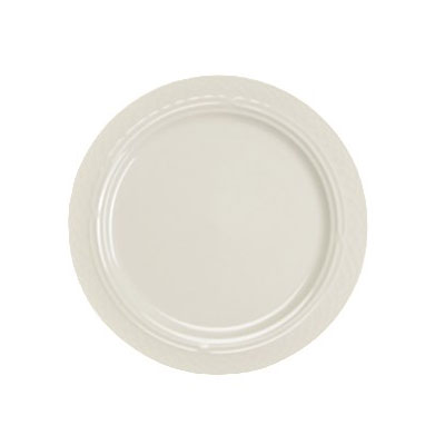 "Homer Laughlin 3347000 6.25"" Round Gothic Blanc Plate - China, Ivory"