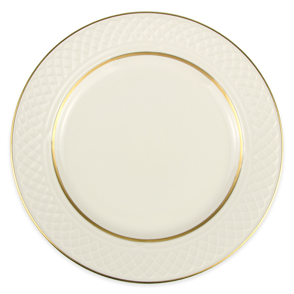 "Homer Laughlin 3361420 8.13"" Round Gothic Westminster Plate - China, Ivory"
