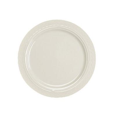 "Homer Laughlin 3377000 9"" Round Gothic Blanc Plate - China, Ivory"