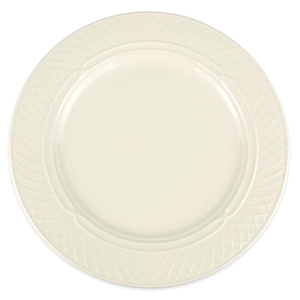 "Homer Laughlin 3427000 12.5"" Round Gothic Blanc Plate - China, Ivory"