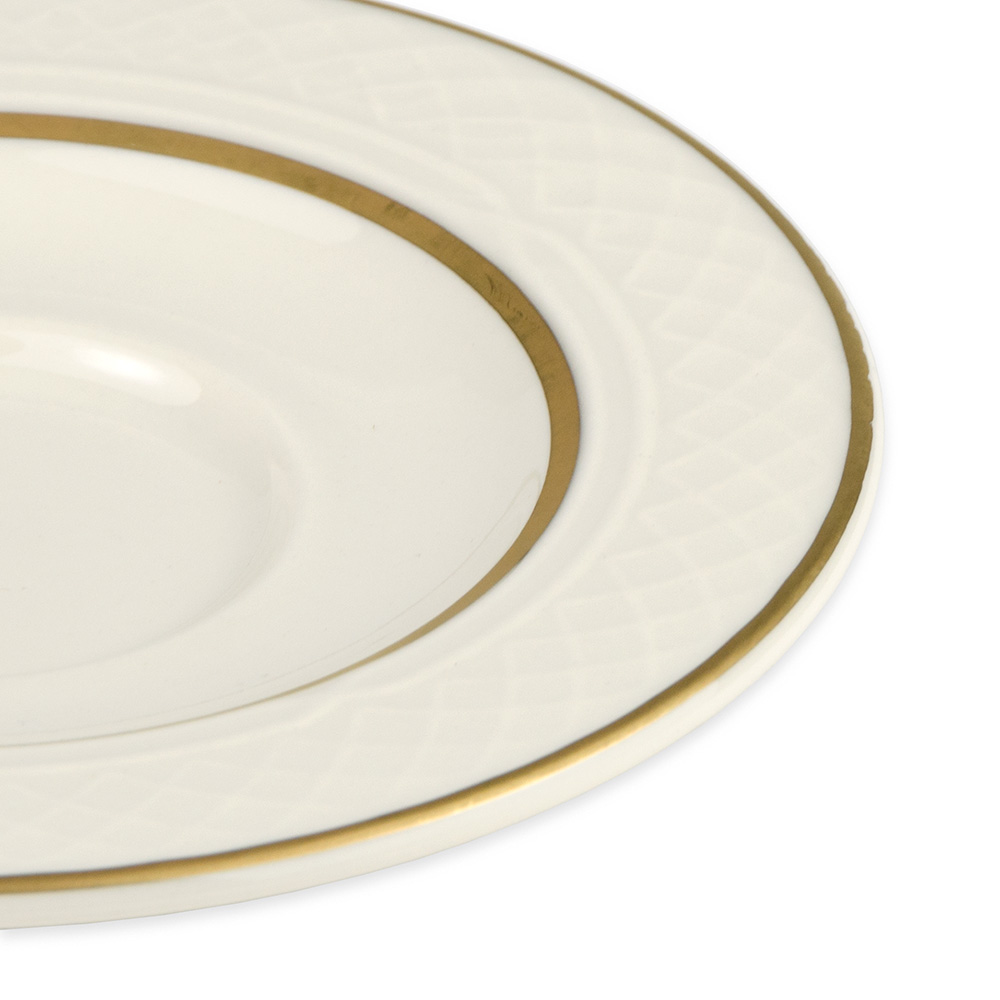 "Homer Laughlin 3551420 5.63"" Gothic Westminster Saucer - China, Ivory"