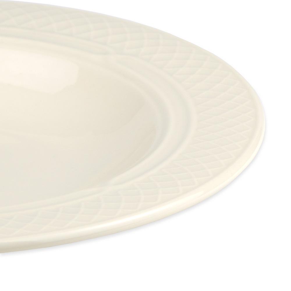 Homer Laughlin 3567000 10.5-oz Gothic Blanc Soup Bowl - China, Ivory