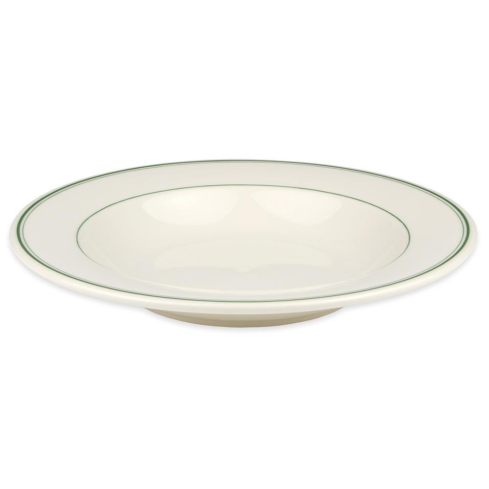 Homer Laughlin 3801 20-oz Pasta Bowl - China, Ivory w/ Green Band