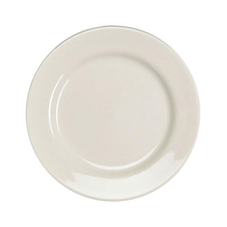 "Homer Laughlin 40310000 5.5"" Round Durathin Plate - China, Arctic White"