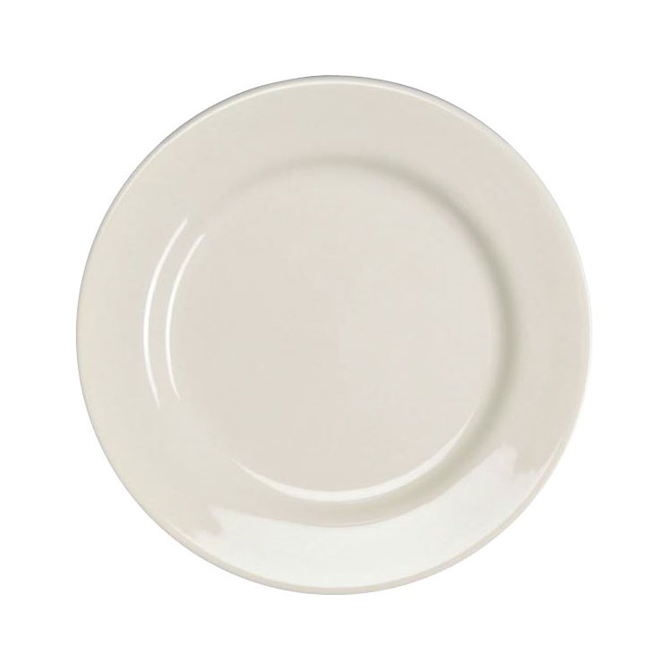 "Homer Laughlin 40710000 9"" Round Durathin Plate - China, Arctic White"