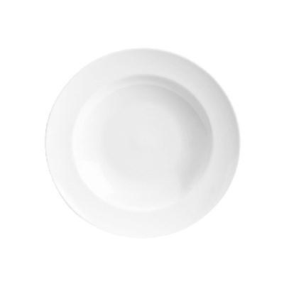 Homer Laughlin 44110000 16-oz Venetian Pasta Bowl - China, Arctic White