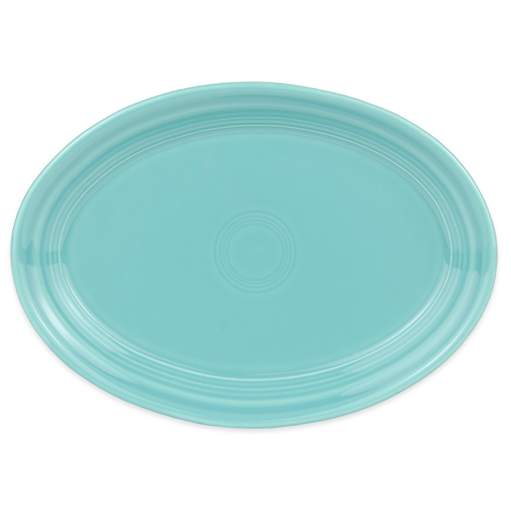 """Homer Laughlin 456107 9.63"""" Oval Fiesta Platter - China, Turquoise"""