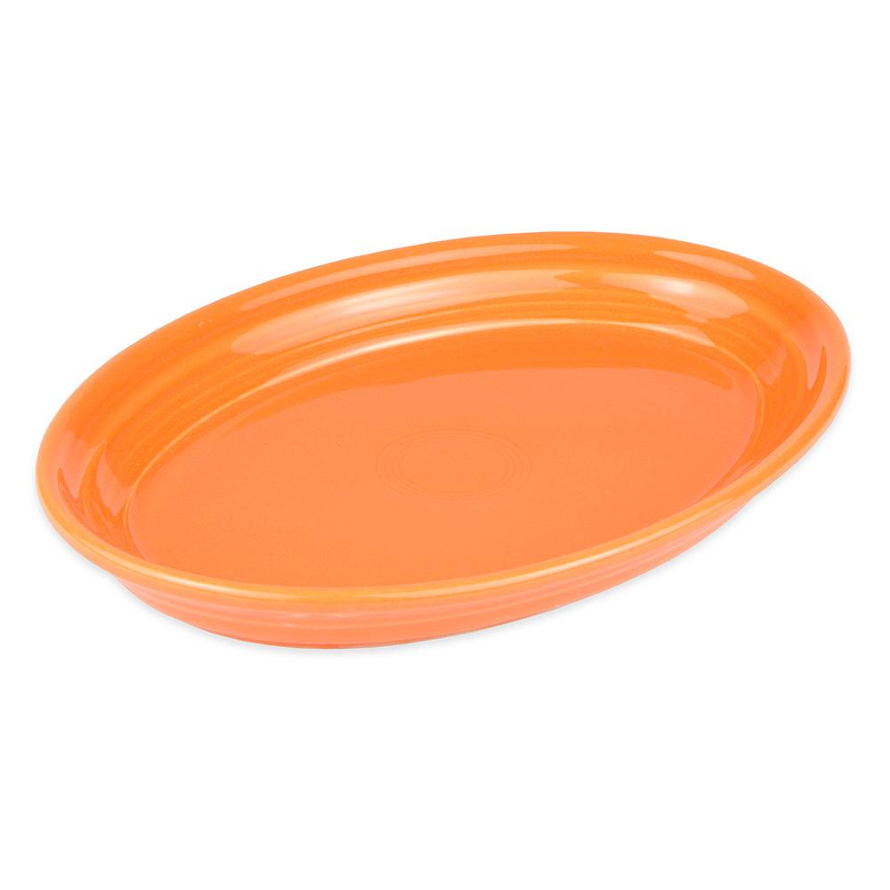 "Homer Laughlin 456325 9.63"" Oval Fiesta Platter - China, Tangerine"