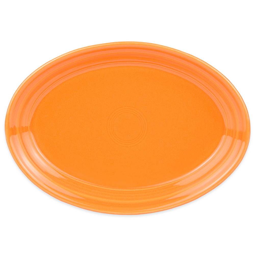 "Homer Laughlin 456325 9.63"" Oval Fiesta Platter - China, Tangerine"