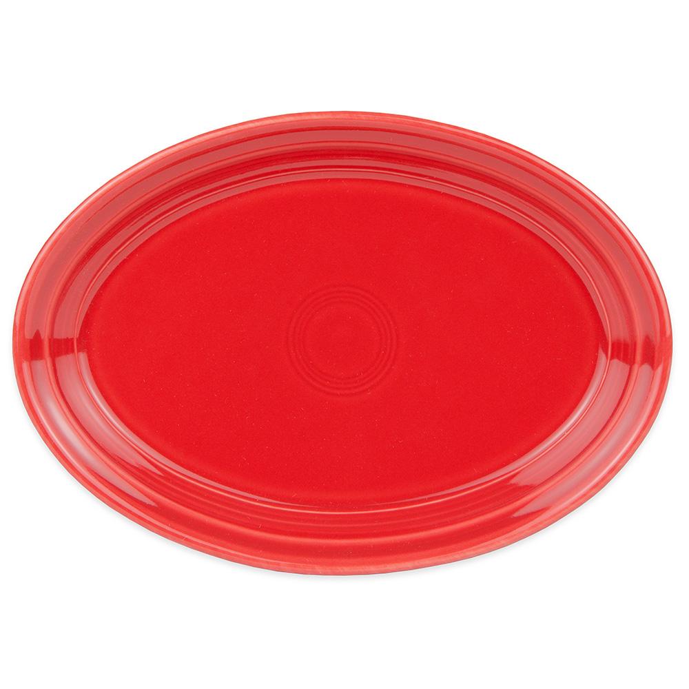 """Homer Laughlin 456326 9.63"""" Oval Fiesta Platter - China, Scarlet"""