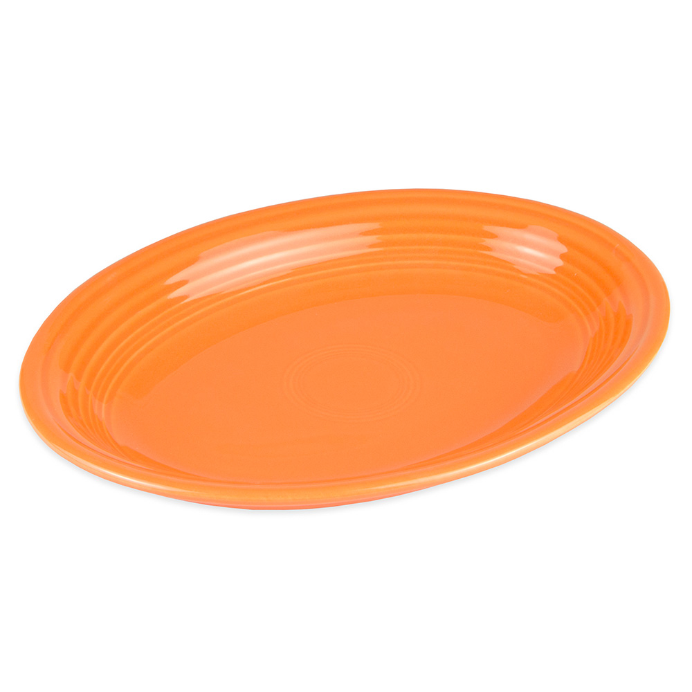 "Homer Laughlin 457325 11.63"" Oval Fiesta Platter - China, Tangerine"