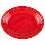 "Homer Laughlin 457326 11.63"" Oval Fiesta Platter - China, Scarlet"