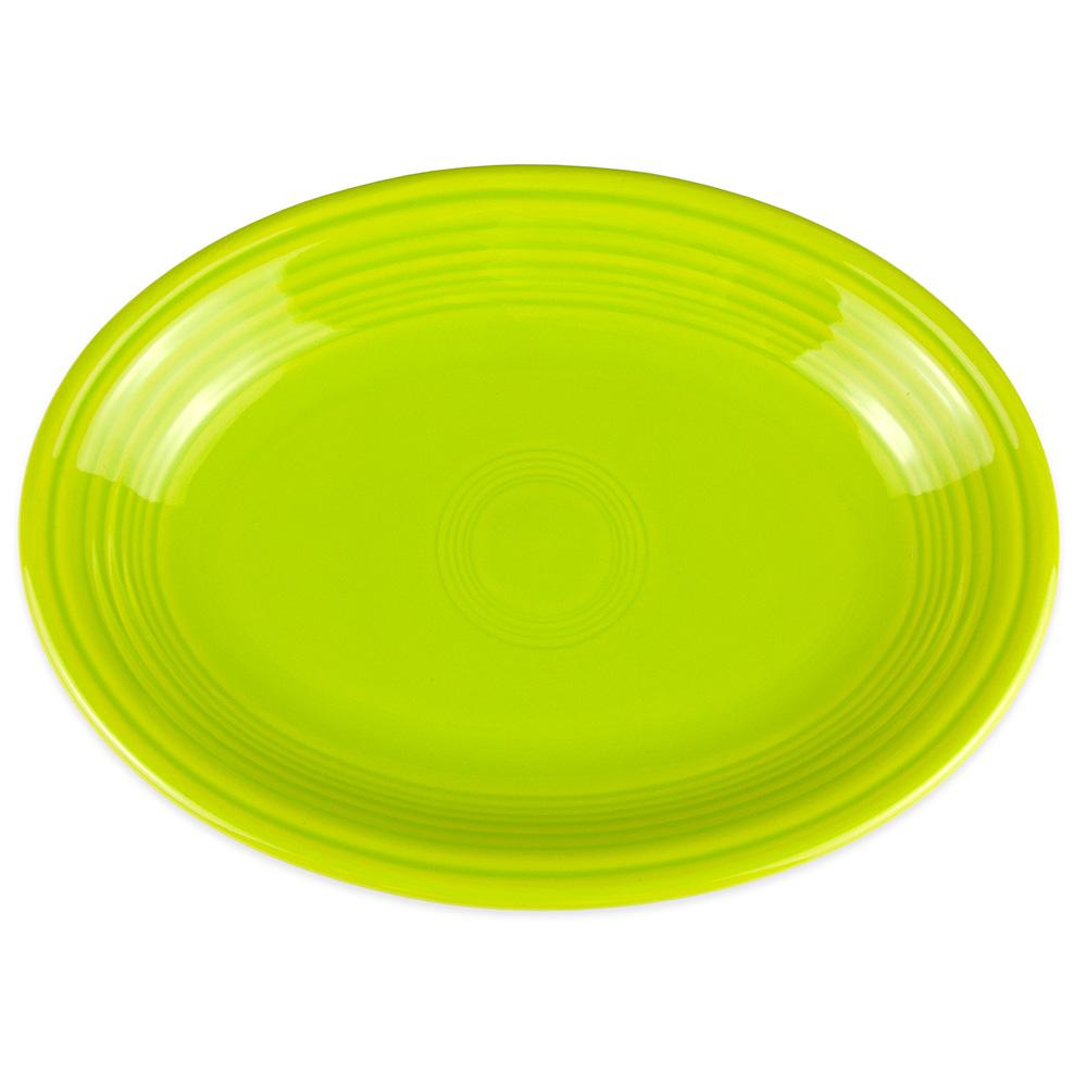 """Homer Laughlin 457332 11.63"""" Oval Fiesta Platter - China, Lemongrass"""