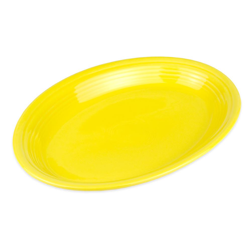"""Homer Laughlin 458320 13.63"""" Oval Fiesta Platter - China, Sunflower"""