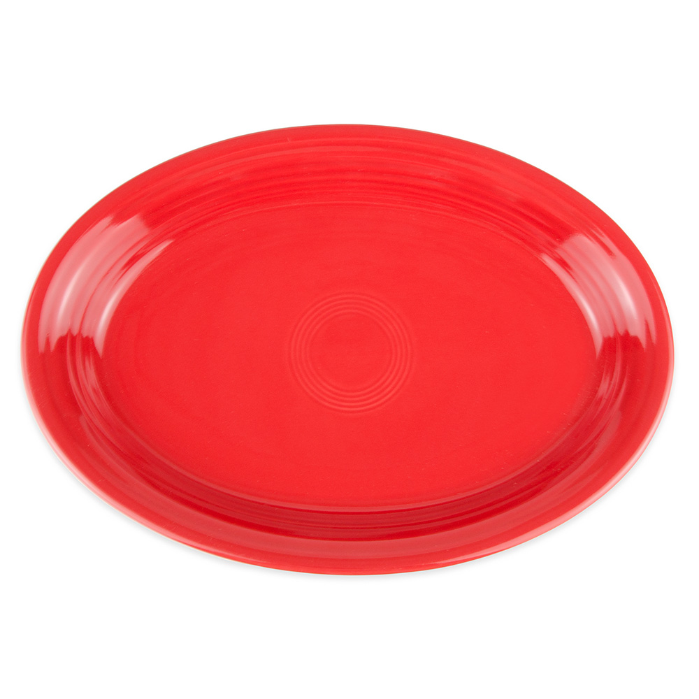 "Homer Laughlin 458326 13.63"" Oval Fiesta Platter - China, Scarlet"