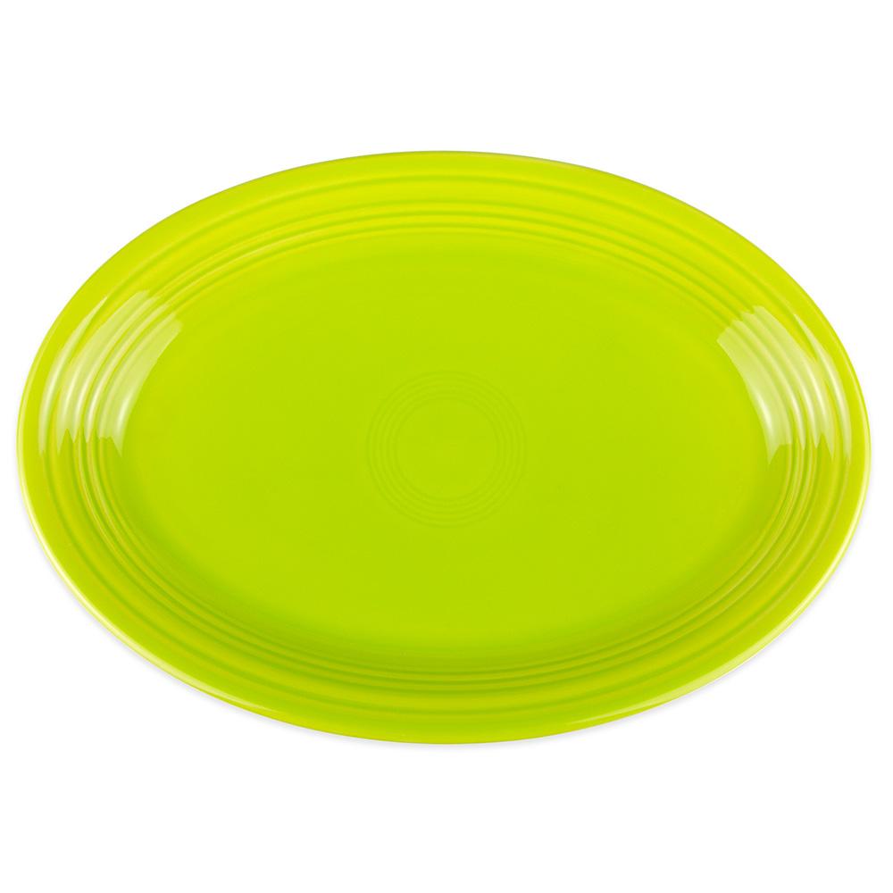 """Homer Laughlin 458332 13.63"""" Oval Fiesta Platter - China, Lemongrass"""