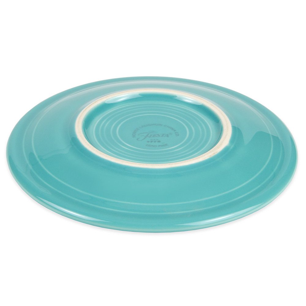 """Homer Laughlin 463107 6.13"""" Round Fiesta Plate - China, Turquoise"""