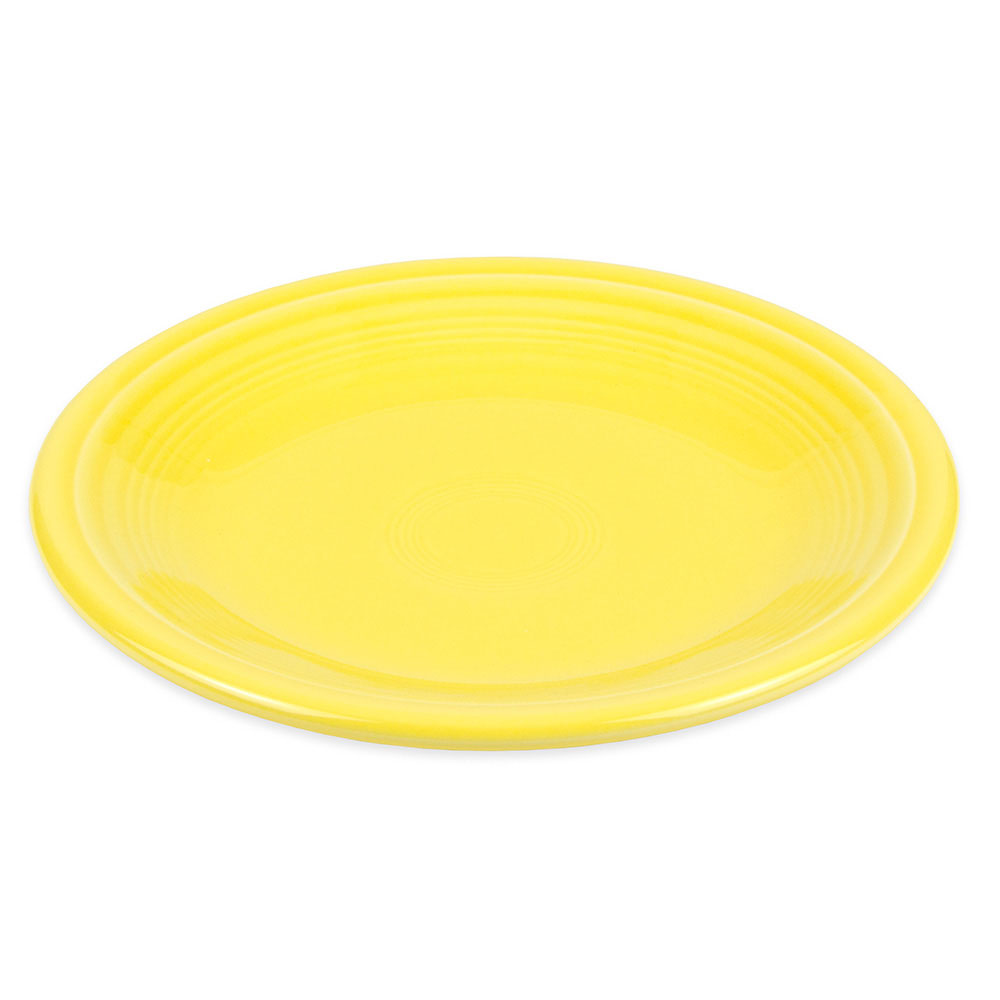 "Homer Laughlin 463320 6.13"" Round Fiesta Plate - China, Sunflower"