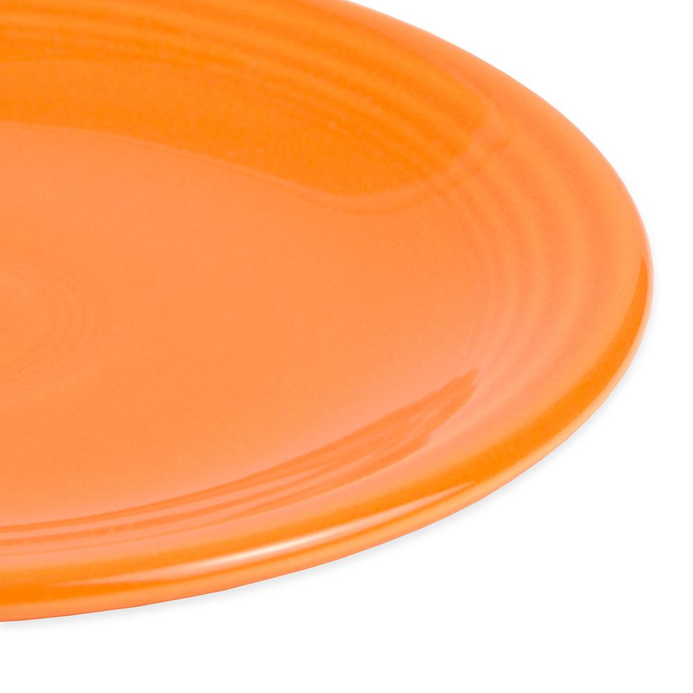"""Homer Laughlin 463325 6.13"""" Round Fiesta Plate - China, Tangerine"""
