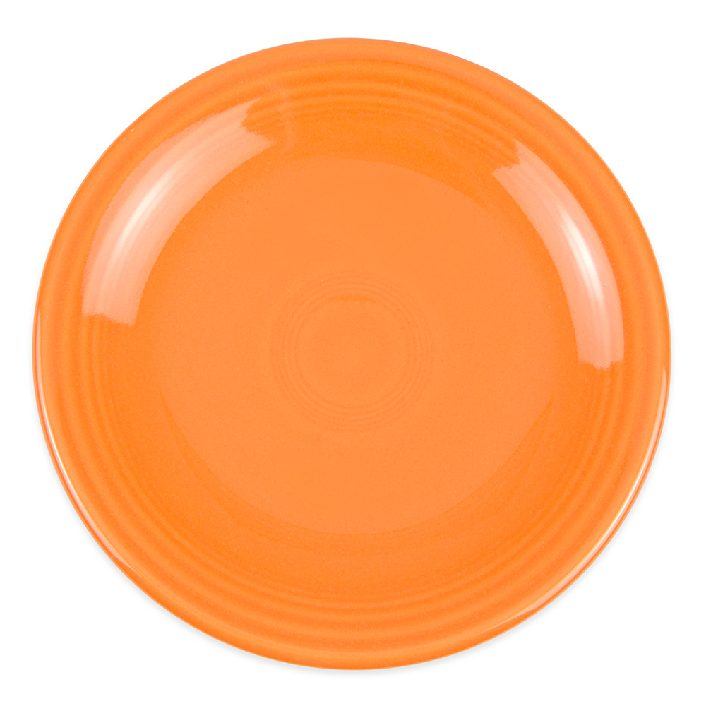 "Homer Laughlin 463325 6.13"" Round Fiesta Plate - China, Tangerine"
