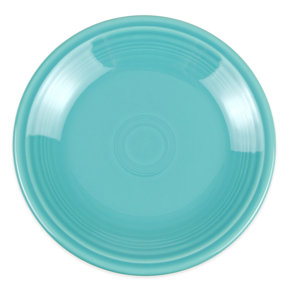 "Homer Laughlin 464107 7.25"" Round Fiesta Plate - China, Turquoise"