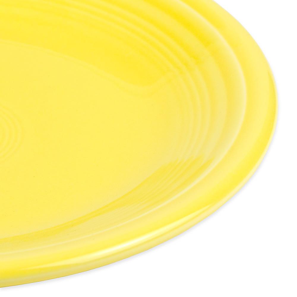 "Homer Laughlin 464320 7.25"" Round Fiesta Plate - China, Sunflower"