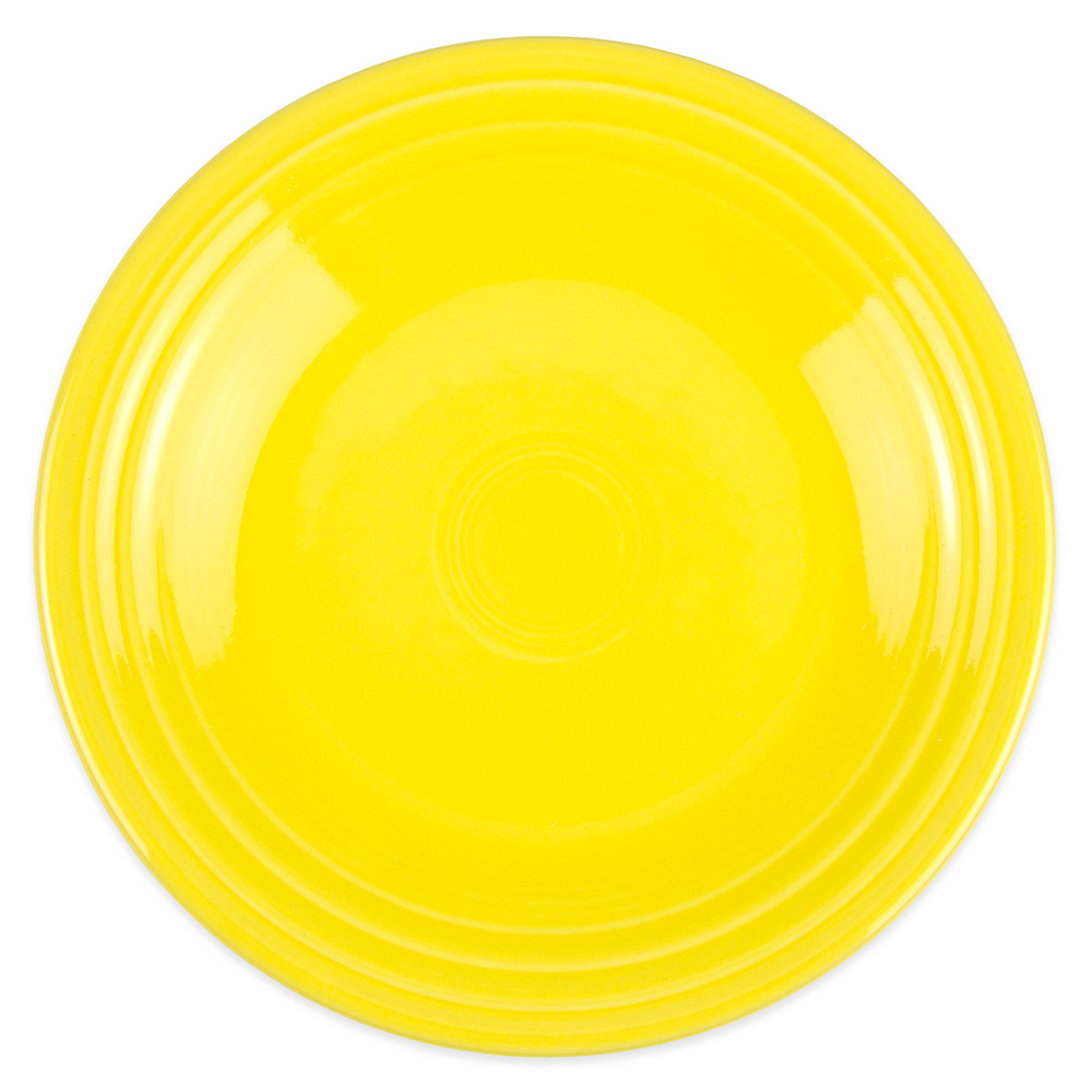 "Homer Laughlin 465320 9"" Round Fiesta Plate - China, Sunflower"