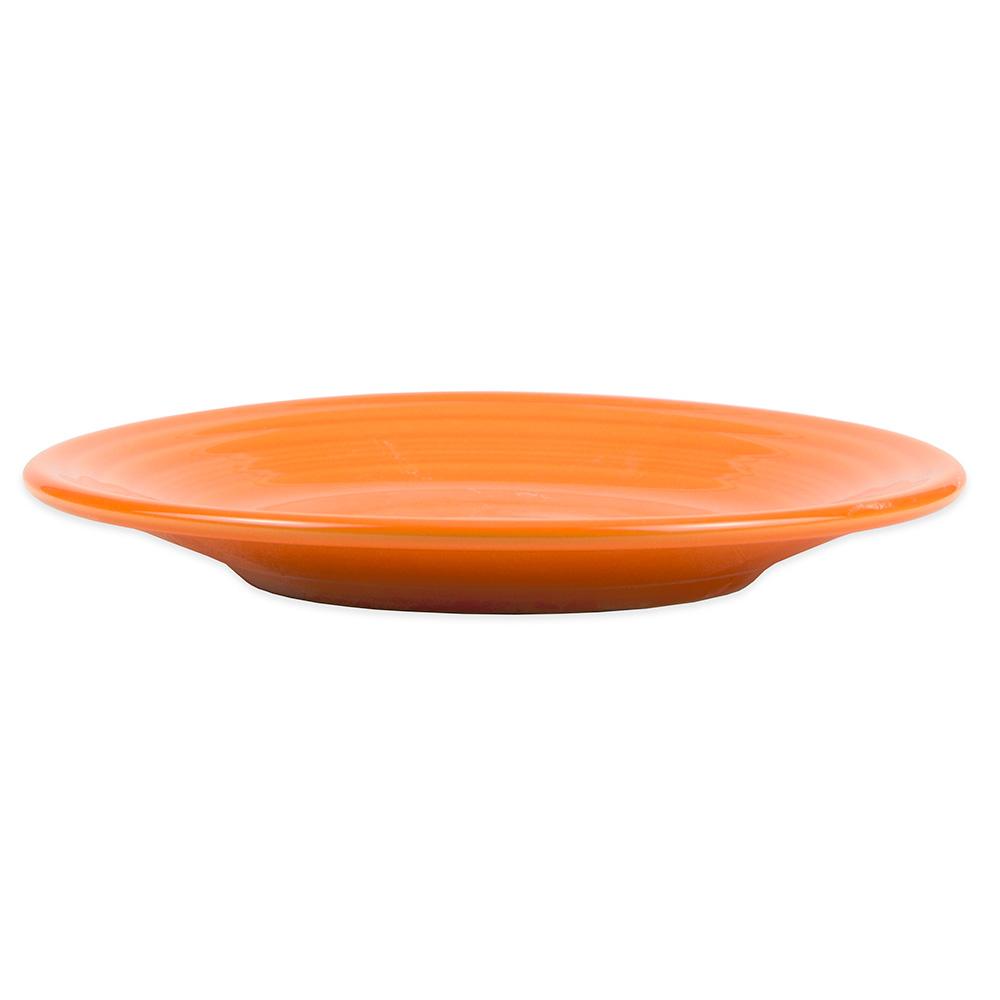 """Homer Laughlin 465325 9"""" Round Fiesta Plate - China, Tangerine"""