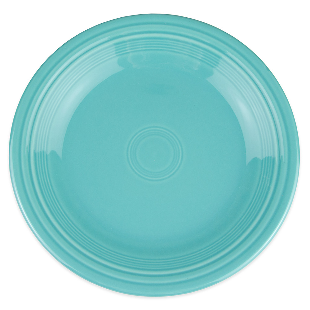"Homer Laughlin 466107 10.5"" Round Fiesta Plate - China, Turquoise"