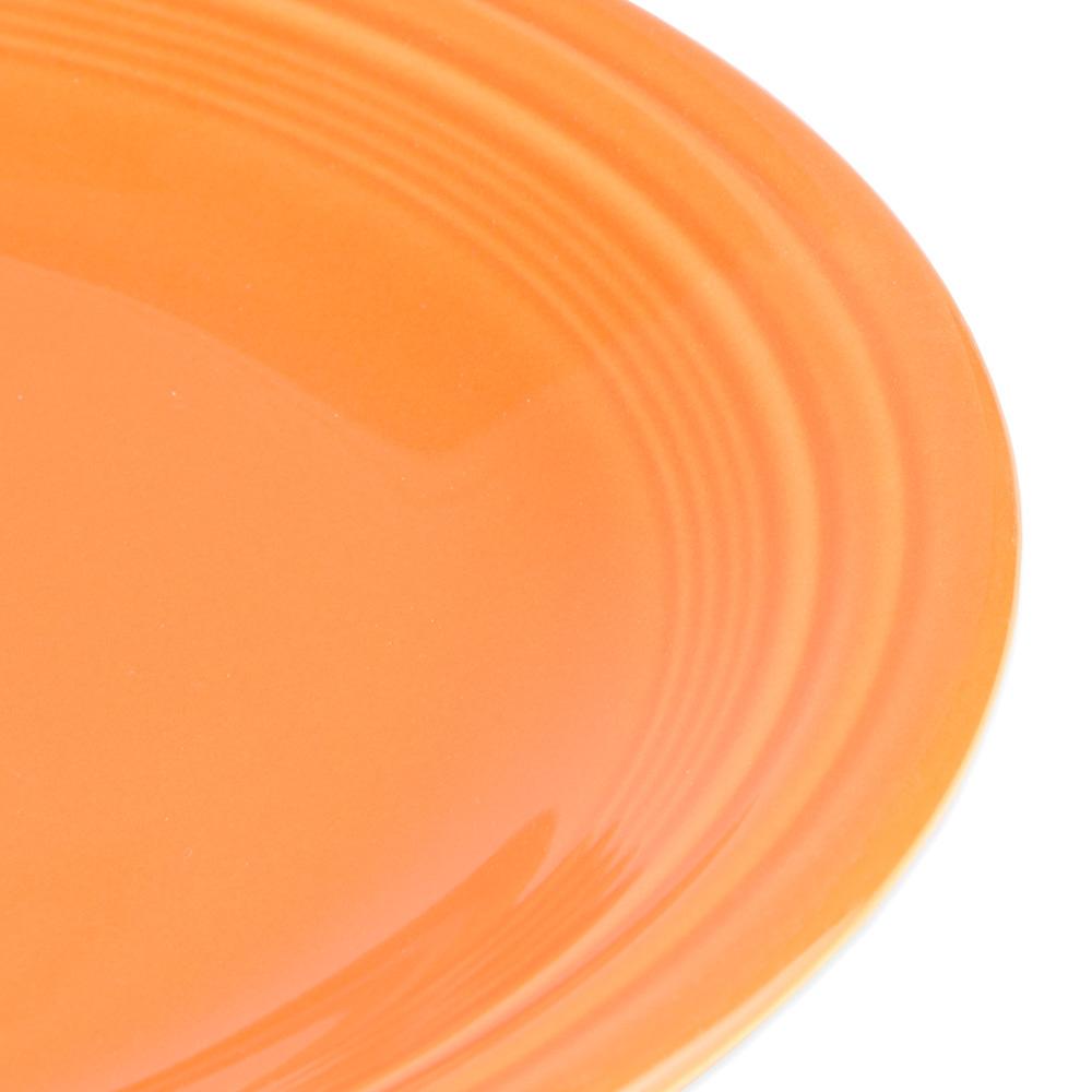 """Homer Laughlin 466325 10.5"""" Round Fiesta Plate - China, Tangerine"""