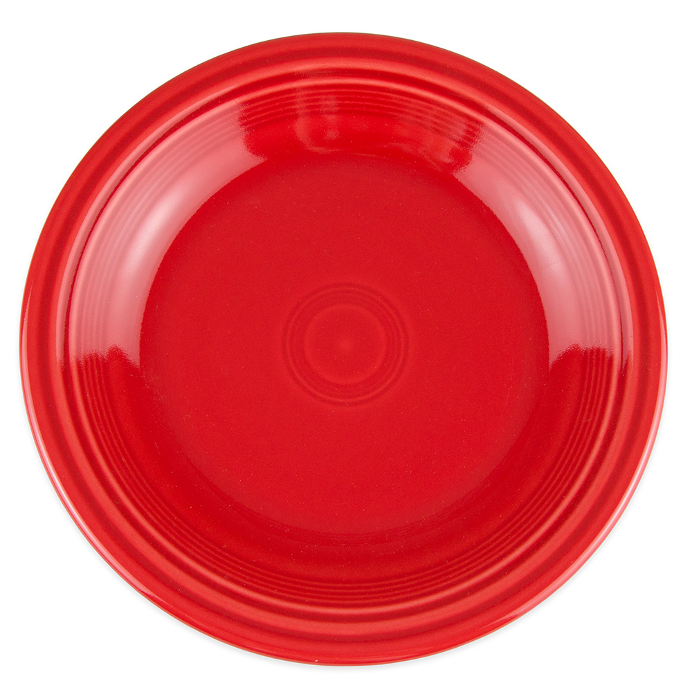 "Homer Laughlin 466326 10.5"" Round Fiesta Plate - China, Scarlet"