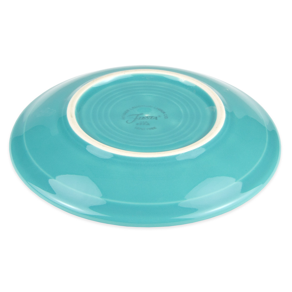 "Homer Laughlin 470107 5.87"" Fiesta Saucer - China, Turquoise"